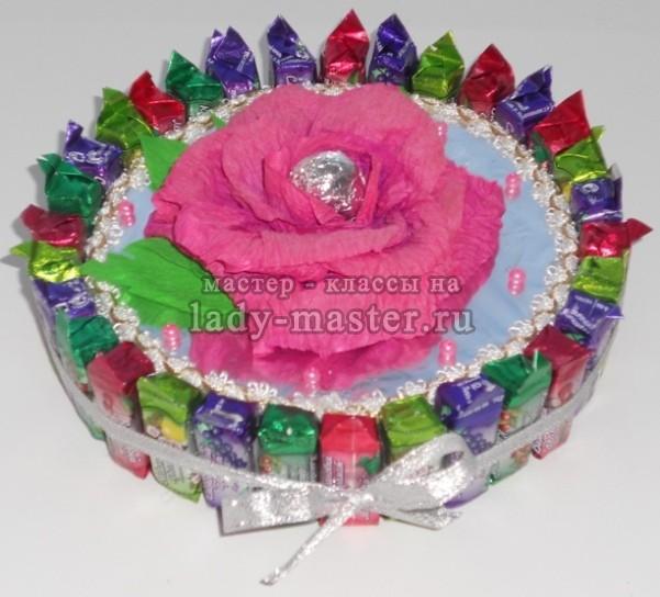 Торт из конфет своими руками с пошаговым фото