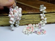 Крошечные колокольчики из полимерной глины. Комплект бижутерии с маленькими цветами своими руками