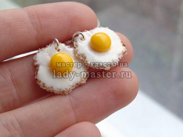 яичница из полимерной глины, фото