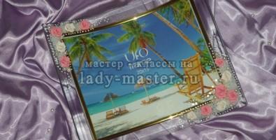 Мастер-класс украшения фото рамки цветами из пластики