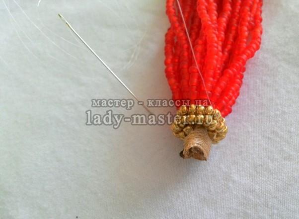 Длинные серьги - кисточки из бисера, мастер - класс с пошаговыми фото