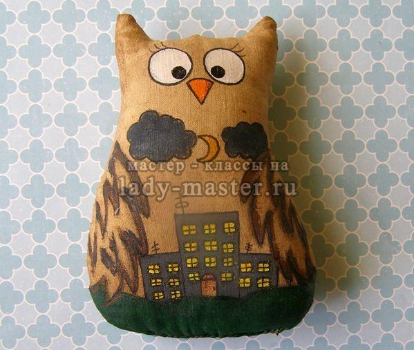 кофейная игрушка сова своими руками, фото