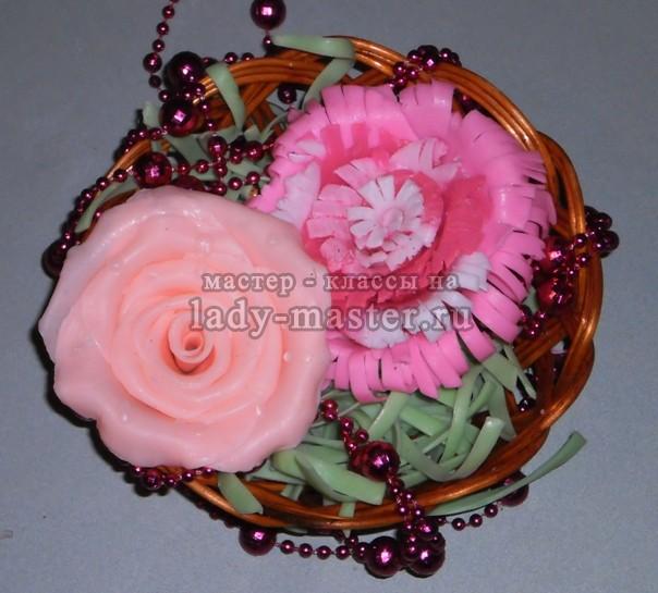 мыло роза ручной работы, фото
