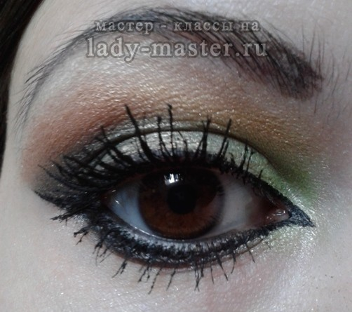 Арабский макияж для карих глаз, фото