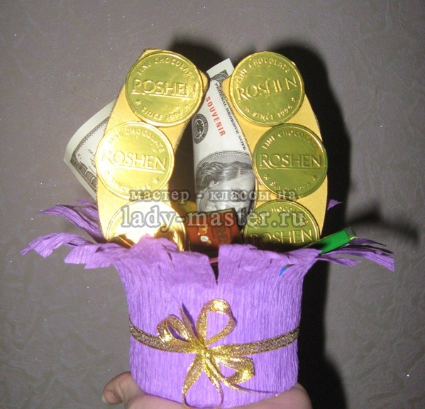 Букет из конфет подкова, мастер - класс, фото