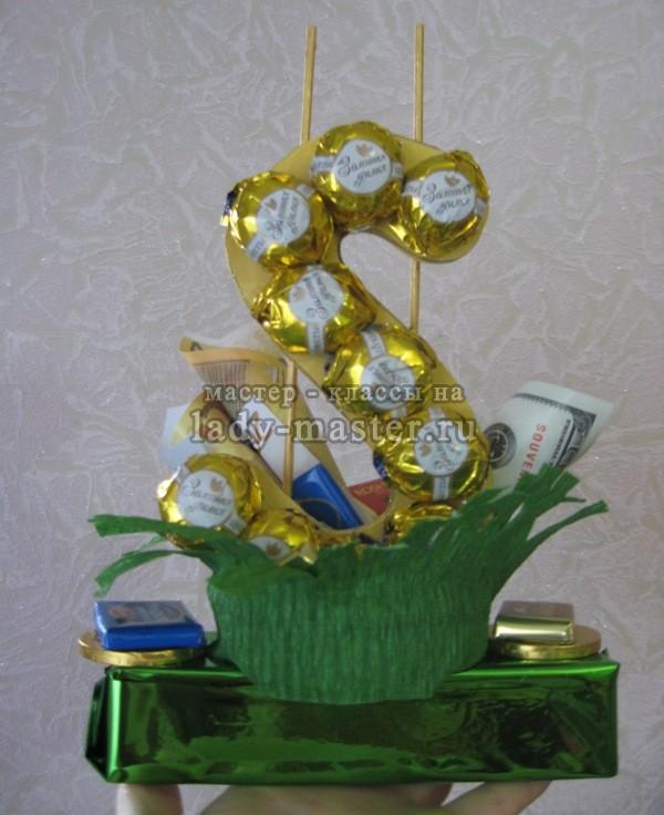 Мужской букет из конфет своими руками — оригинальный подарок