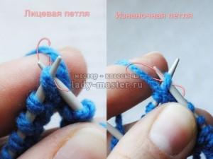 Вязание изнаночных петель по кругу