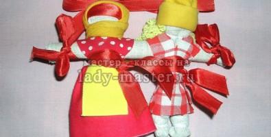 Традиционная свадебная кукла «Неразлучники»