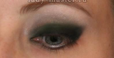 Макияж для серо-зеленых глаз в стиле «Bond girl»