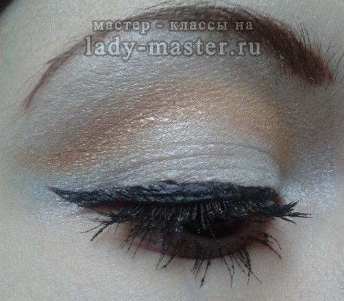 Модный весенний макияж для карих глаз, мастер - класс, фото