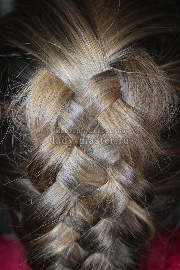 Коса из 5 прядей, фото