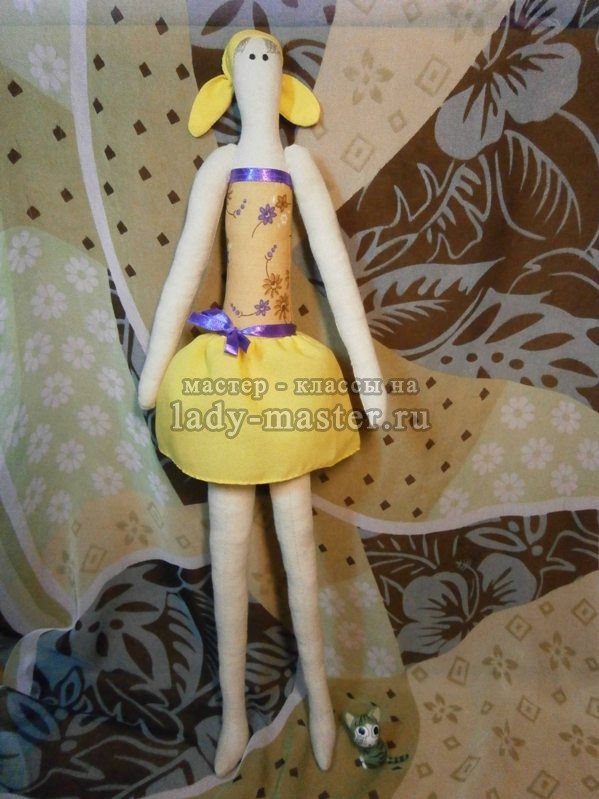 Кукла тильда - пляжница, фото