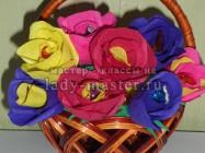 Букет из конфет с розами своими руками