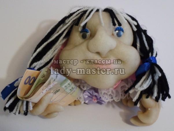 кукла из колготок попик своими руками, фото