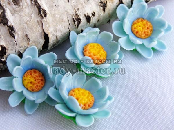 Цветы из полимерной глины, фото