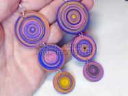 Серьги «Гипнотические спирали» из полимерной глины при помощи экструдера