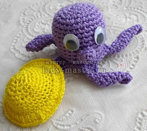 мягкая игрушка осьминог своими руками, фото