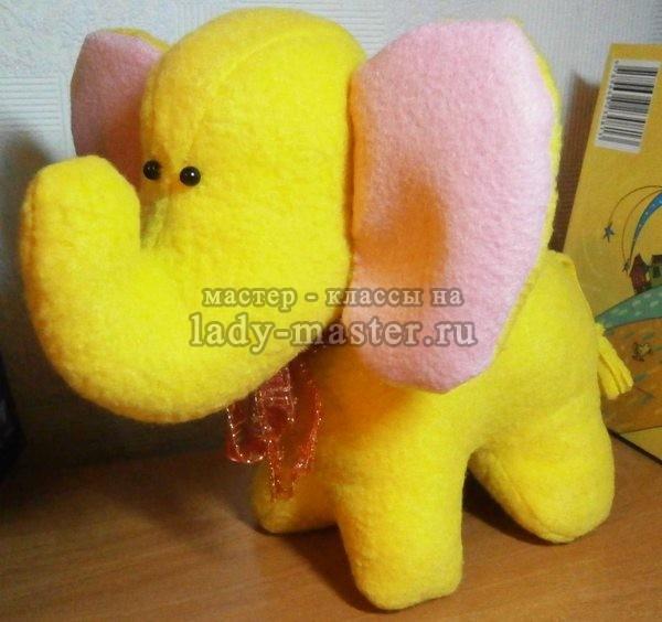 слоненок из флиса своими руками, фото