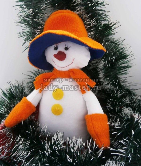 снеговик своими руками, фото