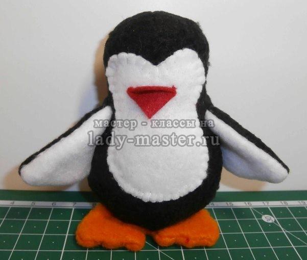 Как сшить своими руками пингвина 15