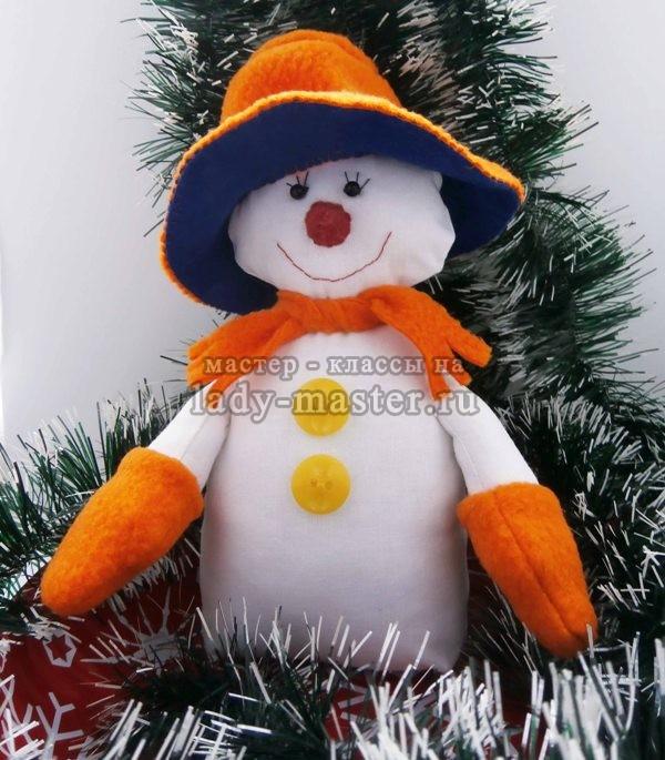 Новогодний снеговик своими руками, фото