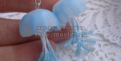 Медуза из полимерной глины. Лепка изделий из полупрозрачной термопластики.