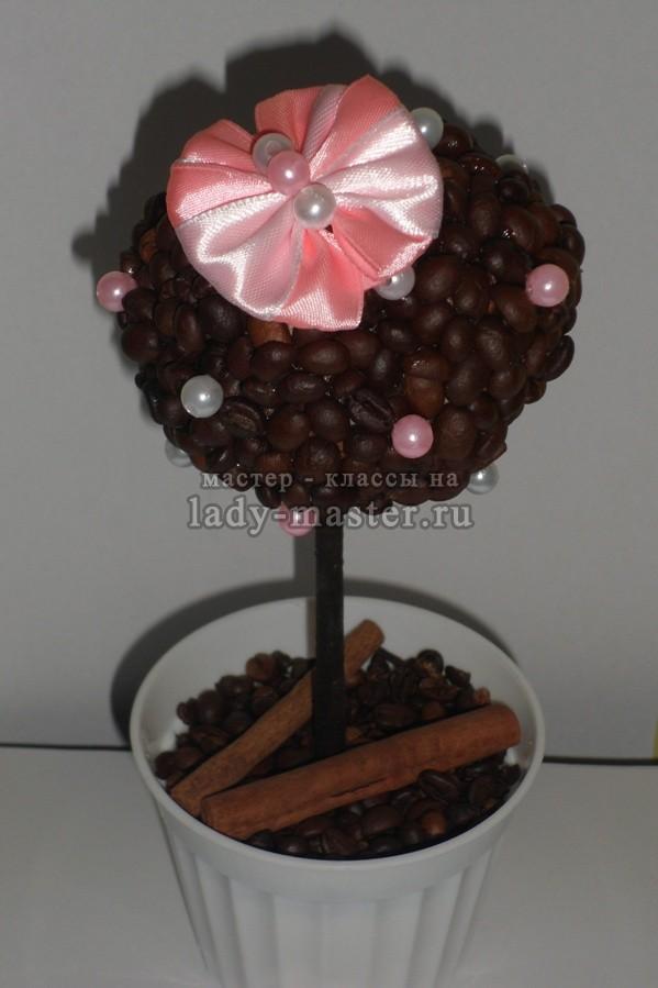 кофейный топиарий с корицей и гвоздикой, фото