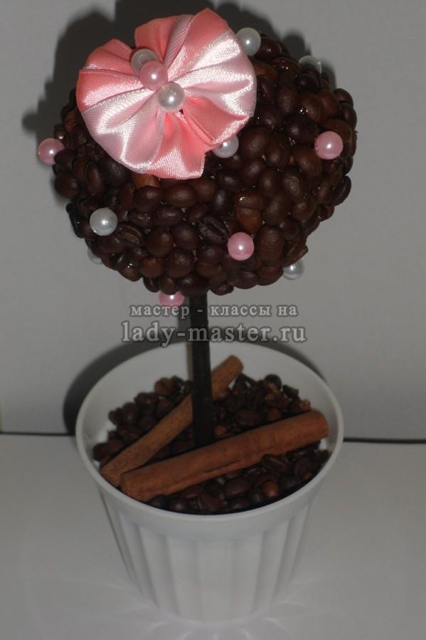 Кофейный топиарий «Нежность», фото