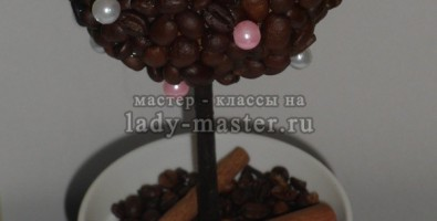 Кофейный топиарий «Нежность»