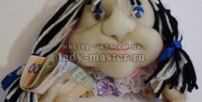Кукла попик «Лёля», сделанная своими руками принесет удачу в ваш дом!