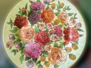 Настенная тарелка в стиле «шебби-шик»