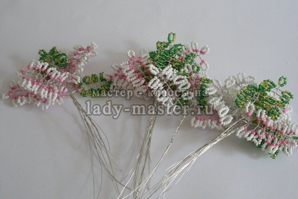 blossoming apple tree from beads