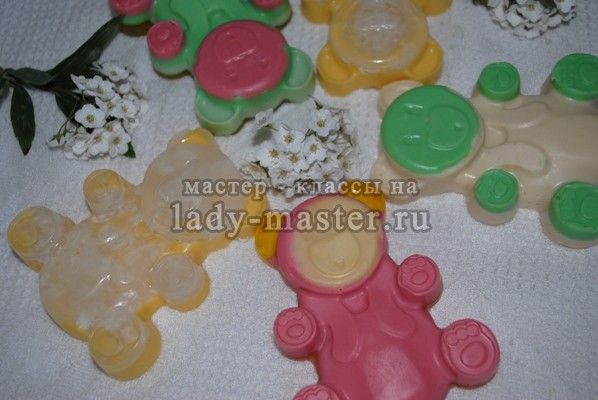 Детское мыло «Мишутка» своими руками, фото