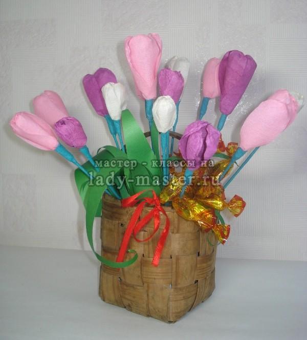 крокусы для букета из конфет, фото