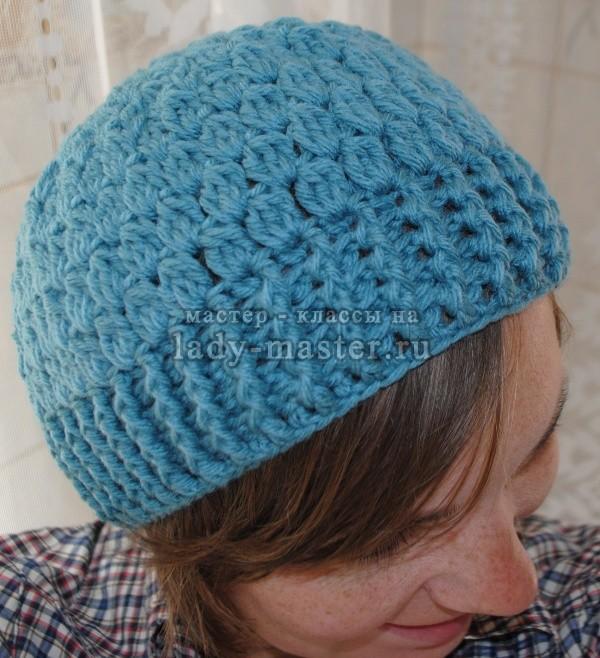 вязание шапок крючком, фото