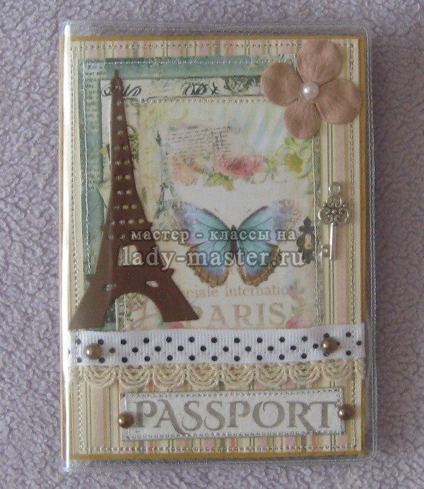 обложка на паспорт, мастер класс, фото