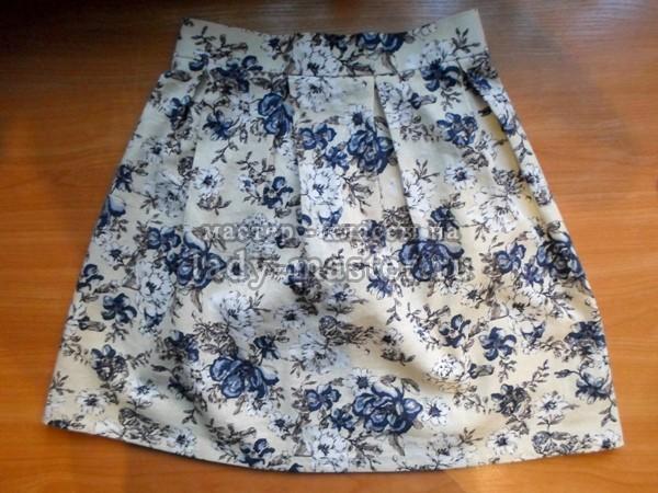 Летняя юбка по последним трендам моды (со встречными складами)