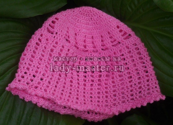вязанная шапочка летняя крючком, фото