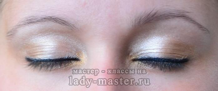 макияж в бежево коричневых тонах, фото
