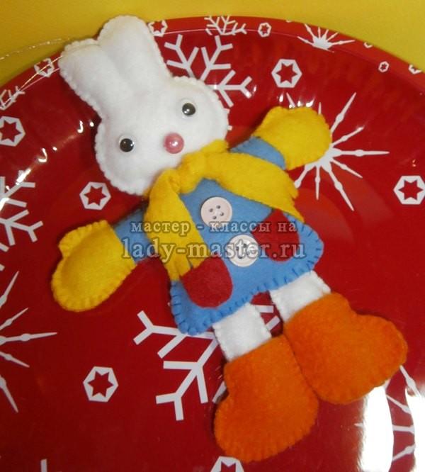 елочная игрушка заяц, фото