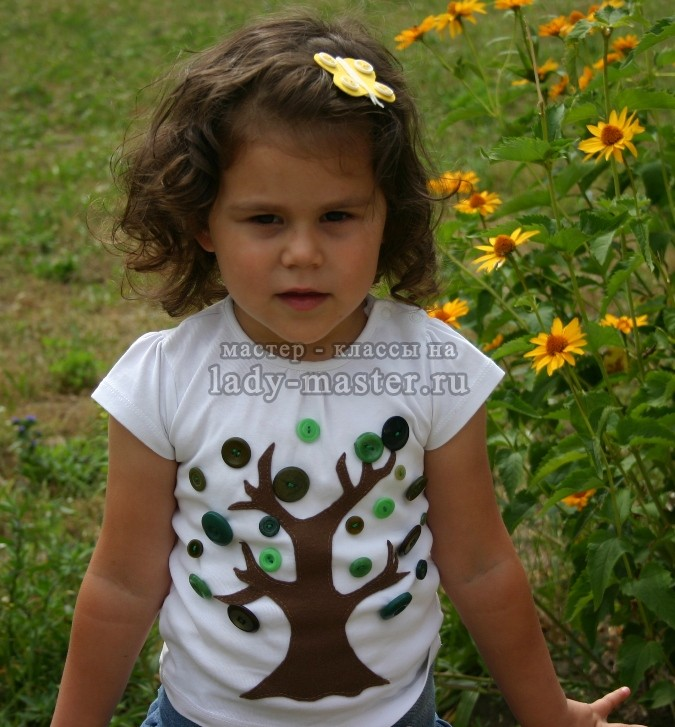 Декор детской футболки своими руками, фото