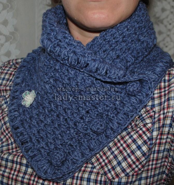 шарф снуд своими руками крючком, фото