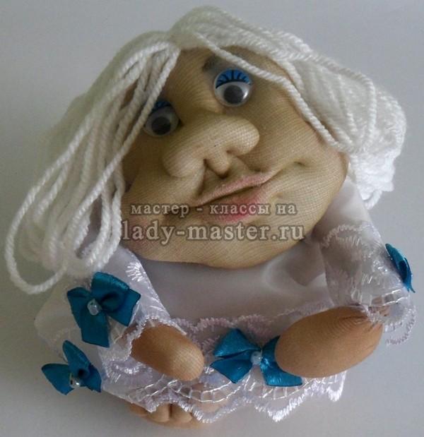 Кукла ангел в чулочной технике, фото