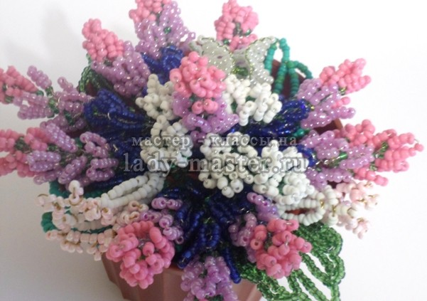 букет полевых цветов из бисера, фото
