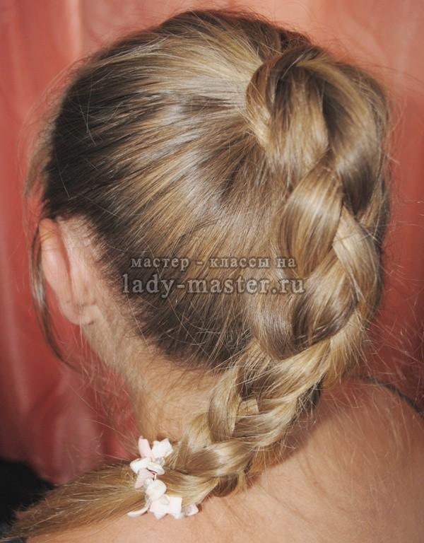 плетение объемной косы, фото