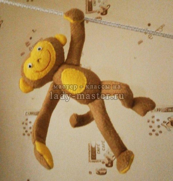 игрушка обезьянка из флиса своими руками, фото