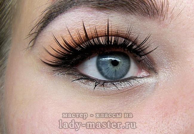 свадебный макияж фото глаз