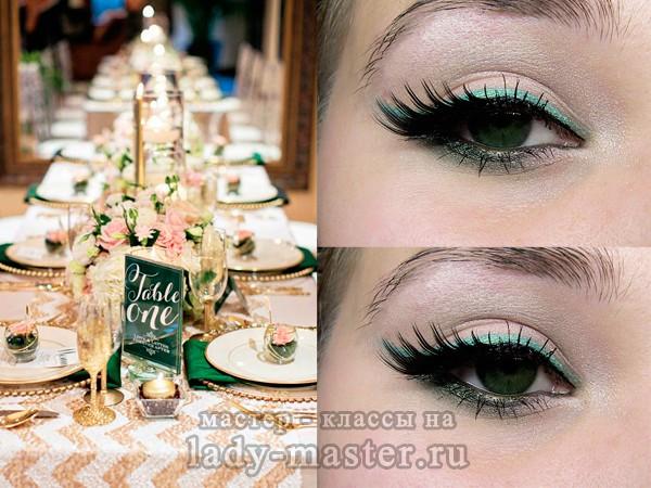 вечерний макияж для зеленых глаз, фото