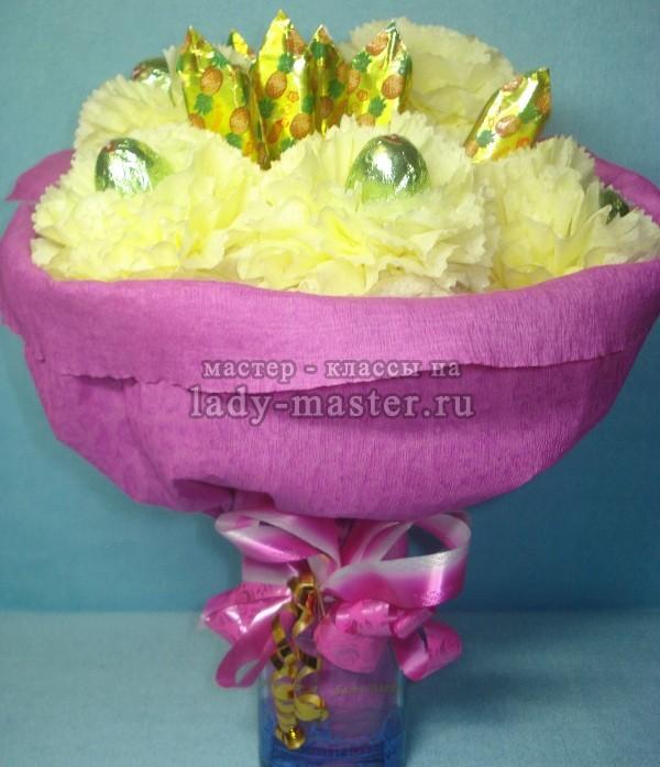 цветок из бумажной салфетки, фото