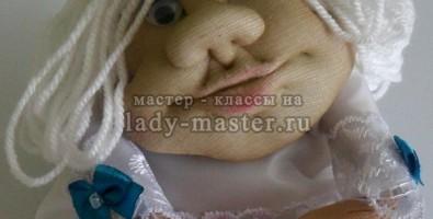 Делаем куклу-оберег Ангелочек в чулочной технике — для тех, кто ищет свою половинку